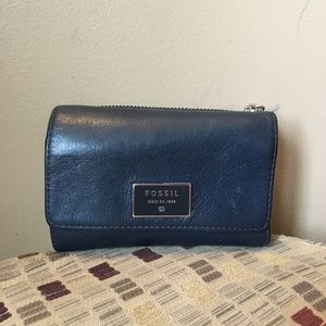 💙Fossil💙Leather Logo Wallet